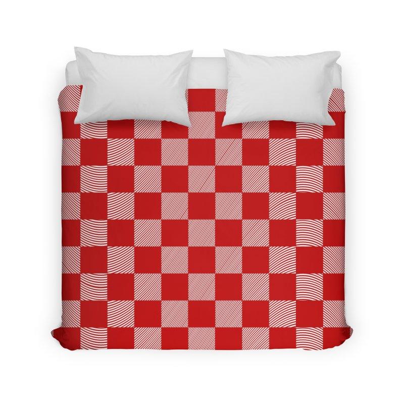 Random Red Chess Home Duvet by samuelrd's Shop