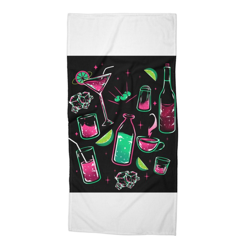 Drinks Accessories Beach Towel by samuelrd's Shop