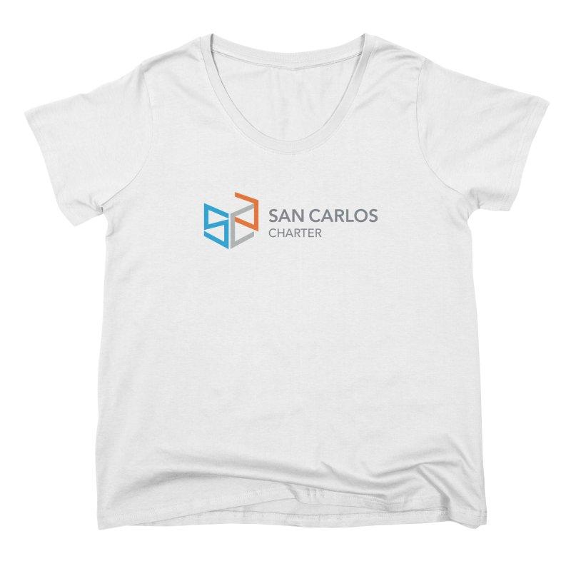 Charter Logo Horizontal Women's Scoop Neck by San Carlos Charter Spirit Store