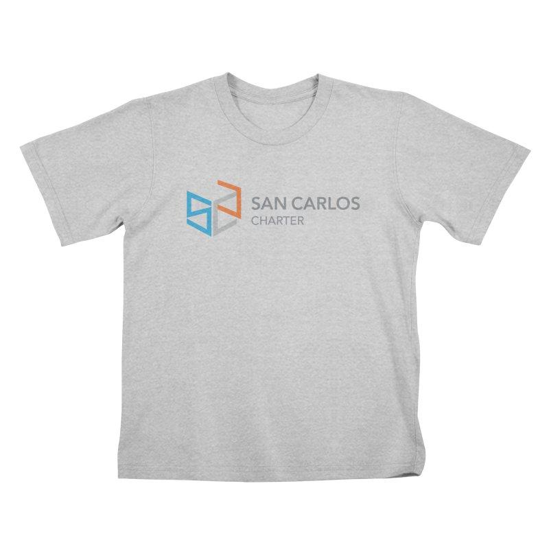 Charter Logo Horizontal Kids T-Shirt by San Carlos Charter Spirit Store