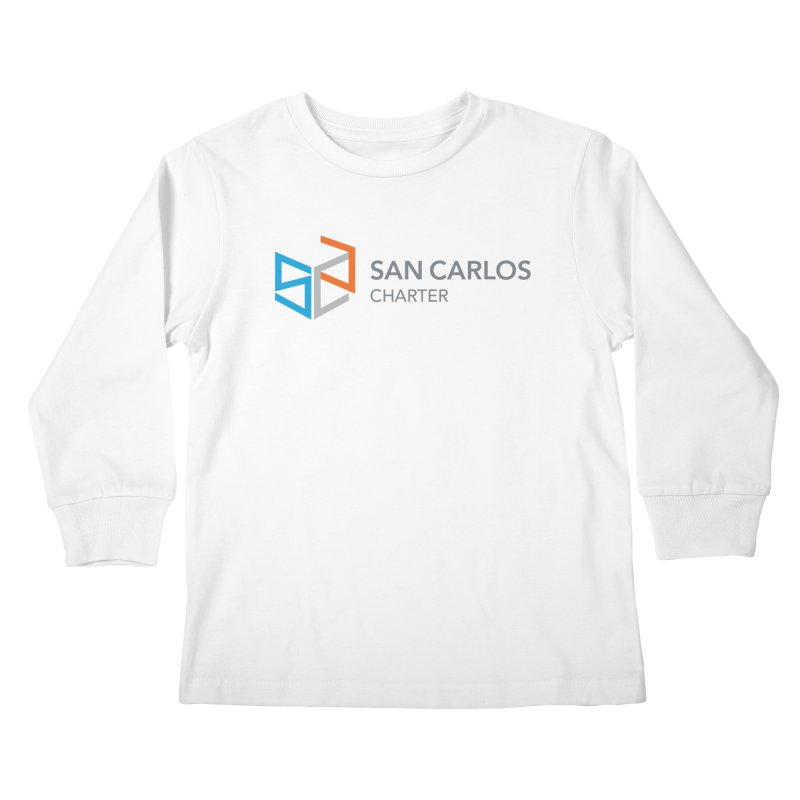 Charter Logo Horizontal Kids Longsleeve T-Shirt by San Carlos Charter Spirit Store