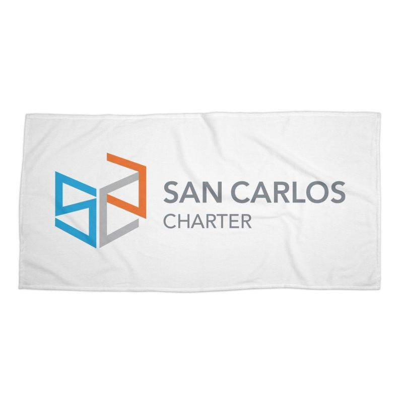 Charter Logo Horizontal Accessories Beach Towel by San Carlos Charter Spirit Store