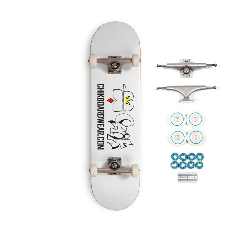 CHiK Boardwear DOT COM Accessories Complete - Basic Skateboard by Sanctuary Sports