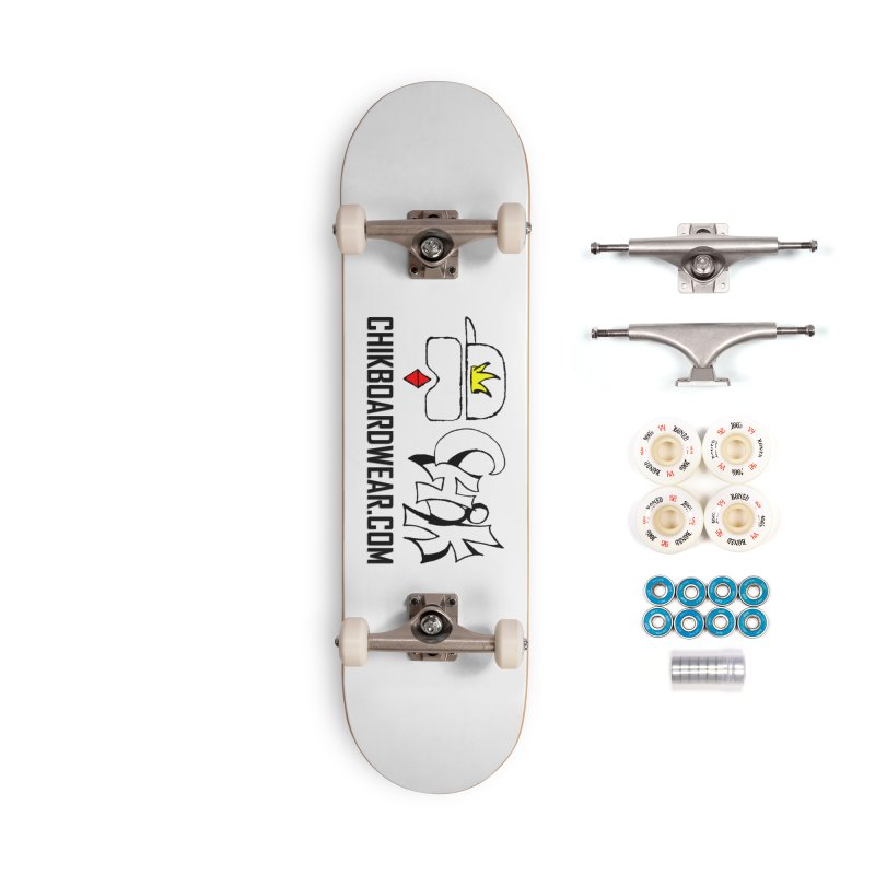 CHiK Boardwear DOT COM Accessories Complete - Premium Skateboard by Sanctuary Sports