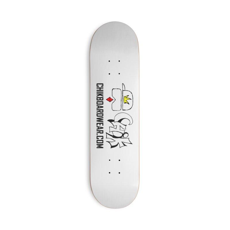 CHiK Boardwear DOT COM Accessories Deck Only Skateboard by Sanctuary Sports