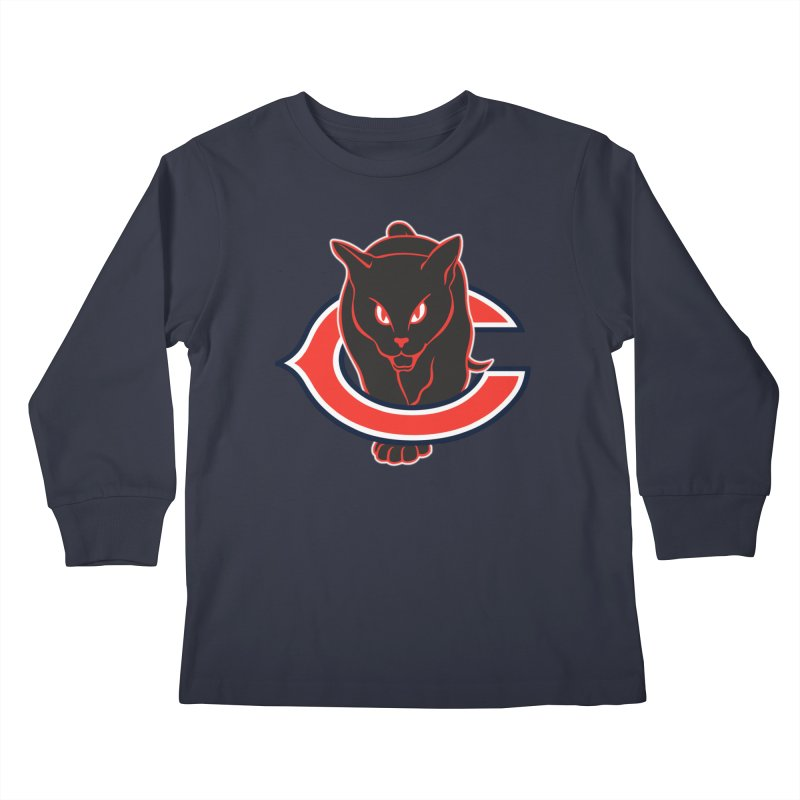 Chicago Black Cats Kids Longsleeve T-Shirt by Sanctuary Sports LLC