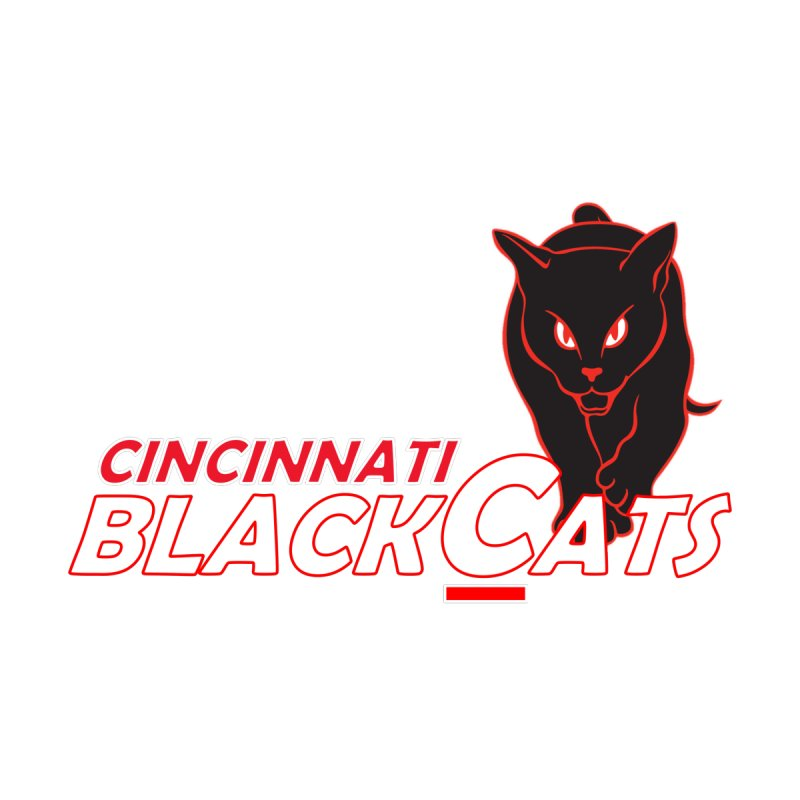 Cincinnati Black Cats Men's T-Shirt by Sanctuary Sports LLC