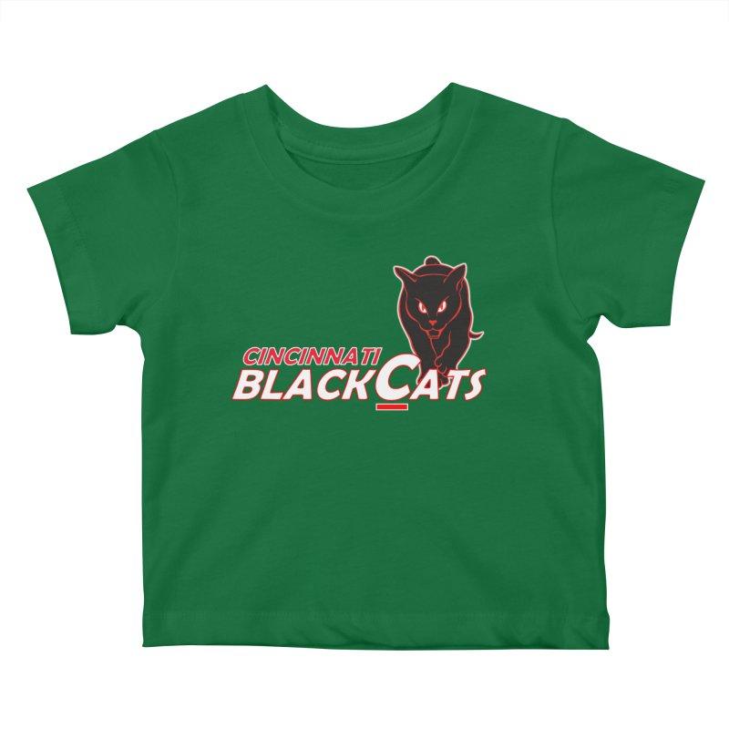 Cincinnati Black Cats Kids Baby T-Shirt by Sanctuary Sports LLC