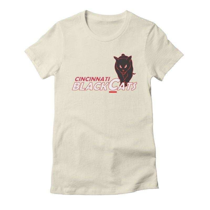 Cincinnati Black Cats Women's Fitted T-Shirt by Sanctuary Sports