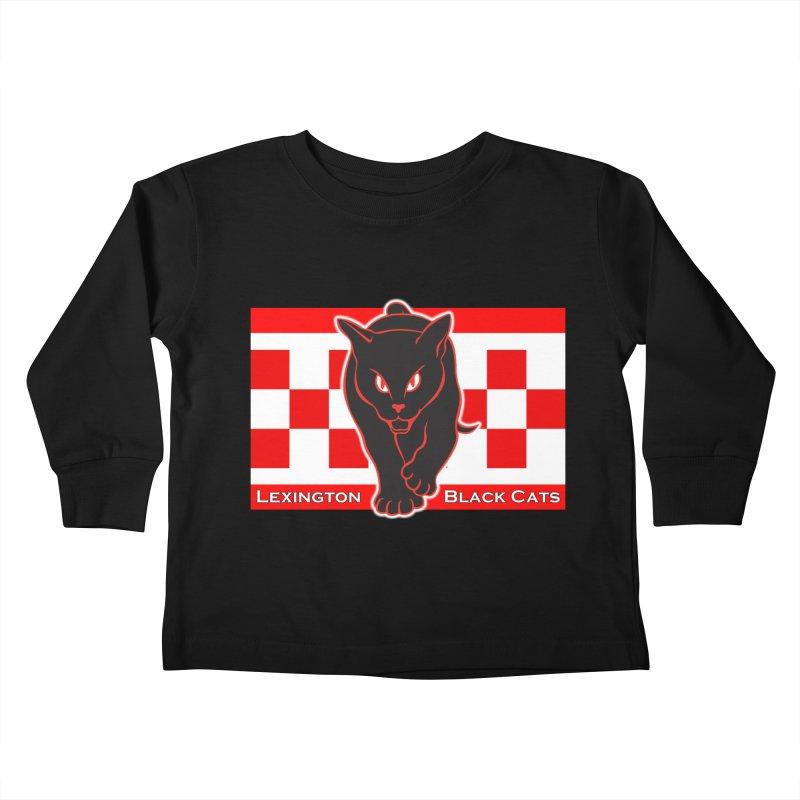 Lexington Black Cats Kids Toddler Longsleeve T-Shirt by Sanctuary Sports LLC