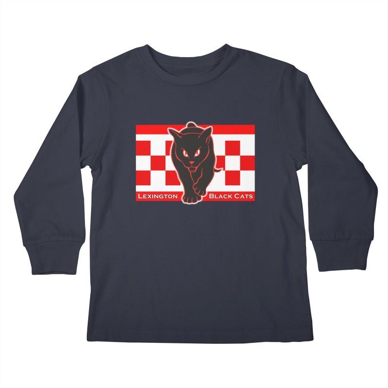 Lexington Black Cats Kids Longsleeve T-Shirt by Sanctuary Sports LLC