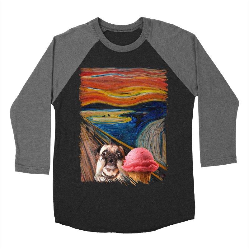 Ice creeeaaaamm Men's Baseball Triblend T-Shirt by sandalo's Artist Shop