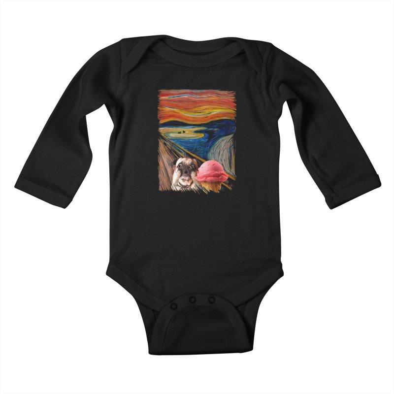 Ice creeeaaaamm Kids Baby Longsleeve Bodysuit by sandalo's Artist Shop