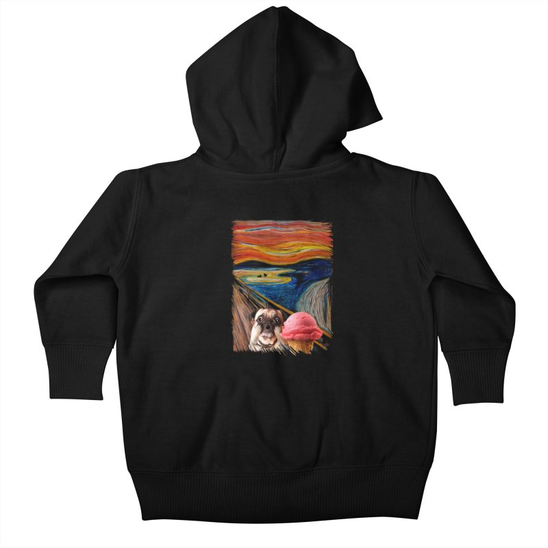 Ice creeeaaaamm Kids Baby Zip-Up Hoody by sandalo's Artist Shop