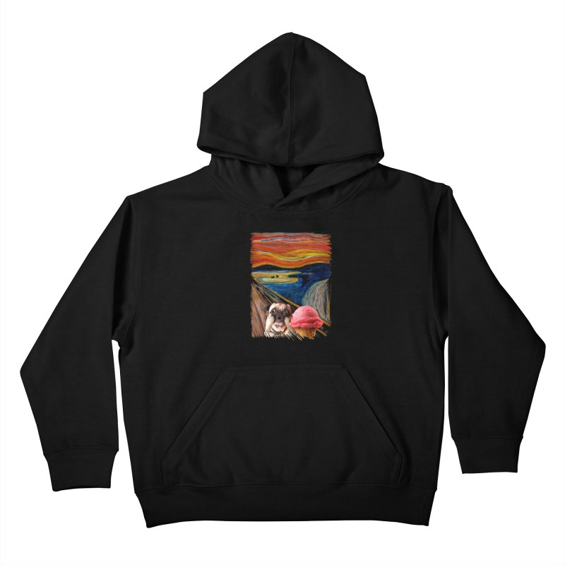 Ice creeeaaaamm Kids Pullover Hoody by sandalo's Artist Shop