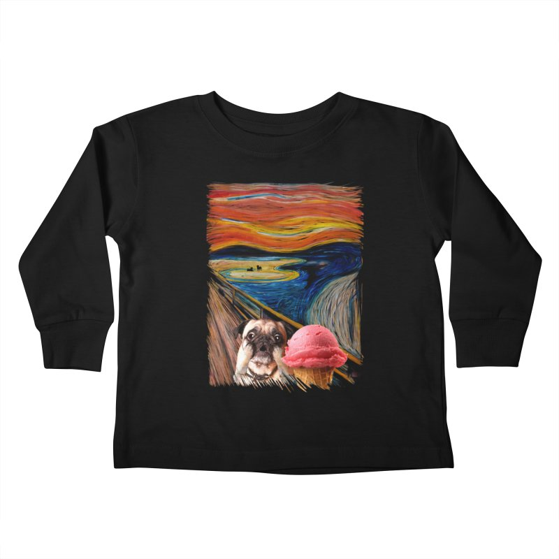 Ice creeeaaaamm Kids Toddler Longsleeve T-Shirt by sandalo's Artist Shop