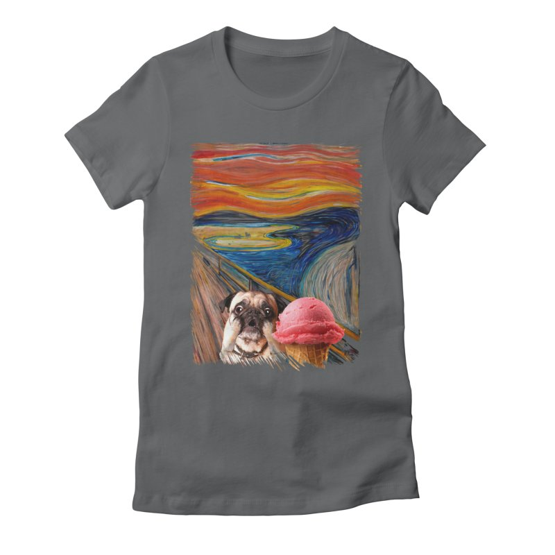Ice creeeaaaamm Women's Fitted T-Shirt by sandalo's Artist Shop