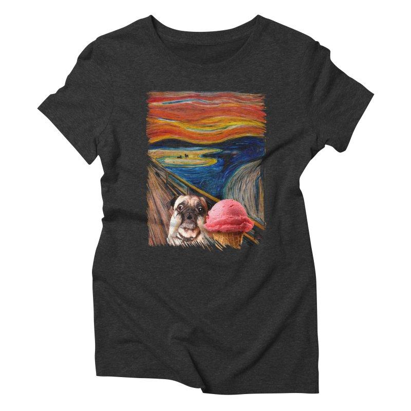 Ice creeeaaaamm Women's Triblend T-Shirt by sandalo's Artist Shop