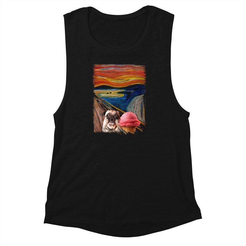 Ice creeeaaaamm Women's Muscle Tank by sandalo's Artist Shop