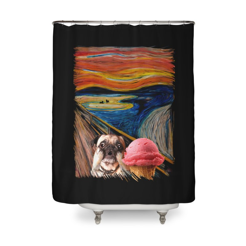 Ice creeeaaaamm Home Shower Curtain by sandalo's Artist Shop