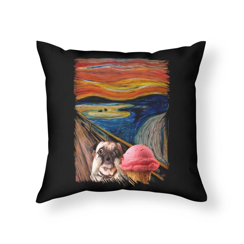 Ice creeeaaaamm Home Throw Pillow by sandalo's Artist Shop