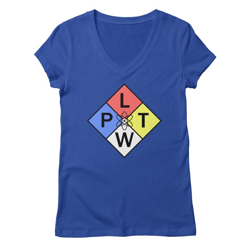 Project Lead The Way Women's Regular V-Neck by Sandburg Middle School's Artist Shop