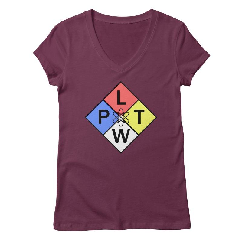 Project Lead The Way Women's Regular V-Neck by Sandburg Middle School's Artist Shop