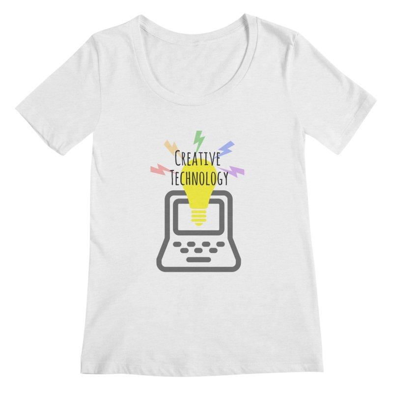 Creative Technology Women's Scoop Neck by Sandburg Middle School's Artist Shop