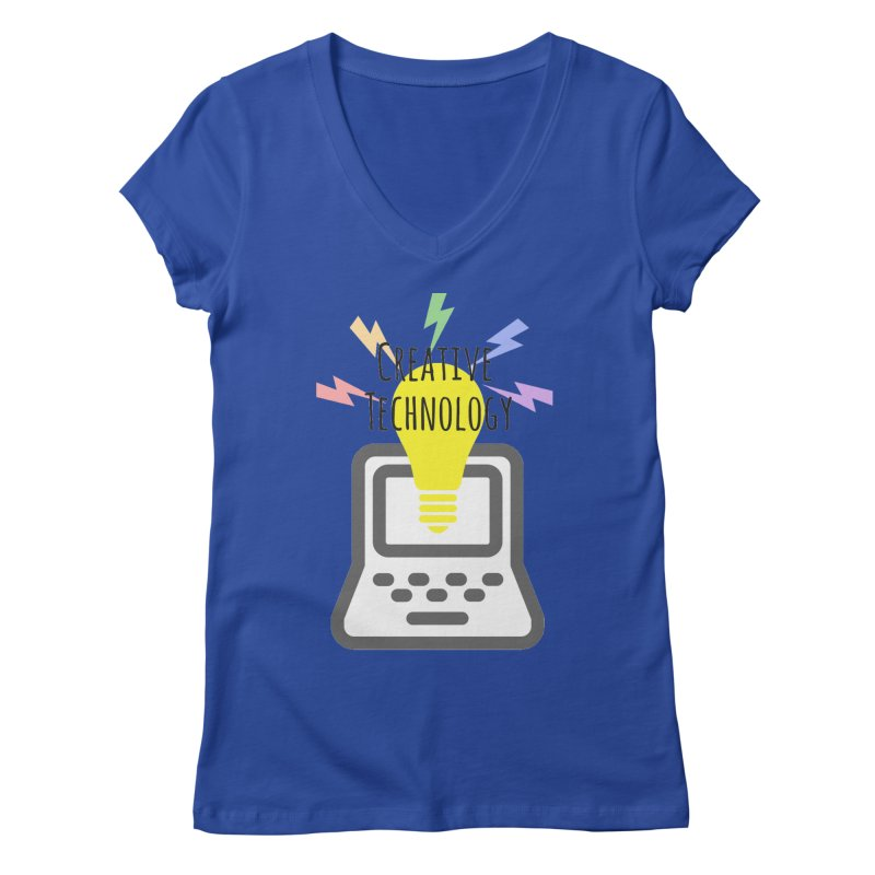Creative Technology Women's Regular V-Neck by Sandburg Middle School's Artist Shop