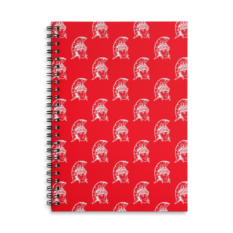 Spartan All-Over Print! Accessories Lined Spiral Notebook by Sandburg Middle School's Artist Shop