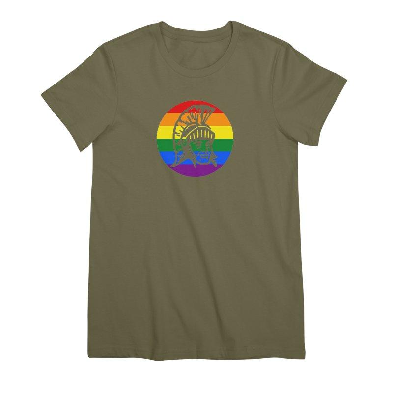 Spartan Circle (GSA) Women's Premium T-Shirt by Sandburg Middle School's Artist Shop