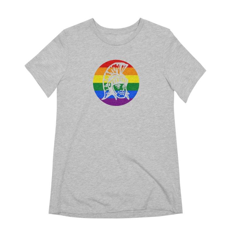 Spartan Circle (GSA) Women's Extra Soft T-Shirt by Sandburg Middle School's Artist Shop
