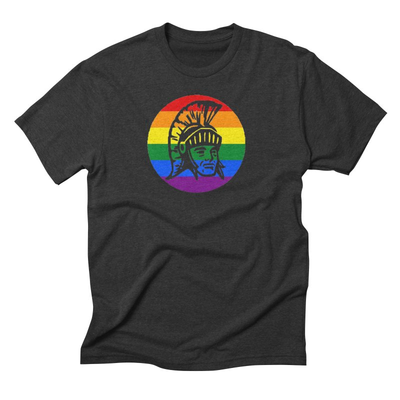 Spartan Circle (GSA) Men's Triblend T-Shirt by Sandburg Middle School's Artist Shop