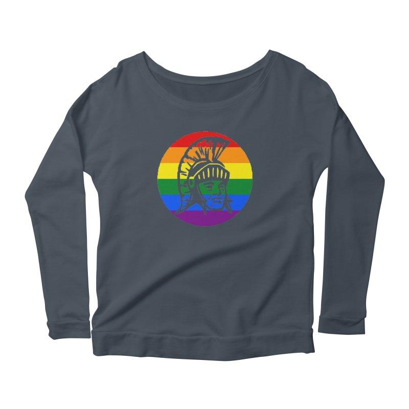Spartan Circle (GSA) Women's Scoop Neck Longsleeve T-Shirt by Sandburg Middle School's Artist Shop