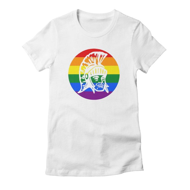 Spartan Circle (GSA) Women's Fitted T-Shirt by Sandburg Middle School's Artist Shop