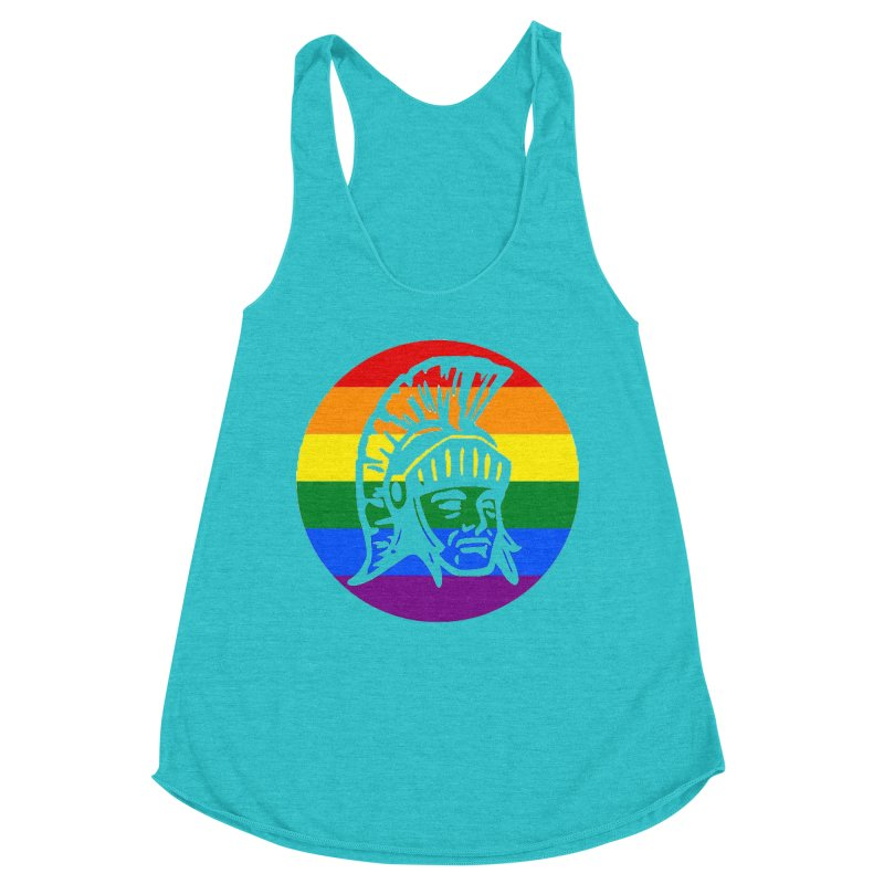 Spartan Circle (GSA) Women's Racerback Triblend Tank by Sandburg Middle School's Artist Shop