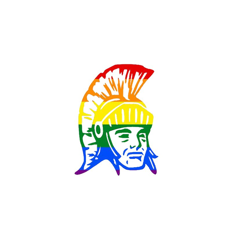 Spartan Head (GSA) Men's T-Shirt by Sandburg Middle School's Artist Shop
