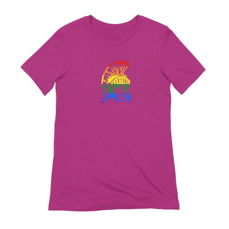 Spartan Head (GSA) Women's Extra Soft T-Shirt by Sandburg Middle School's Artist Shop
