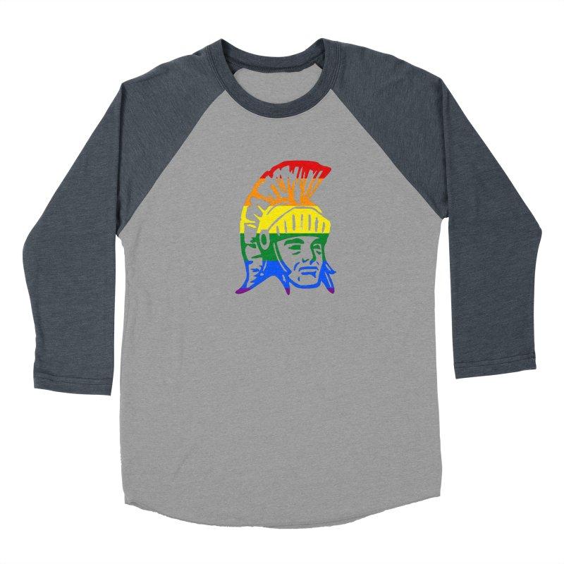 Spartan Head (GSA) Women's Baseball Triblend Longsleeve T-Shirt by Sandburg Middle School's Artist Shop