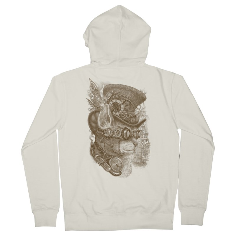 The Observer Men's Zip-Up Hoody by Windville's Artist Shop