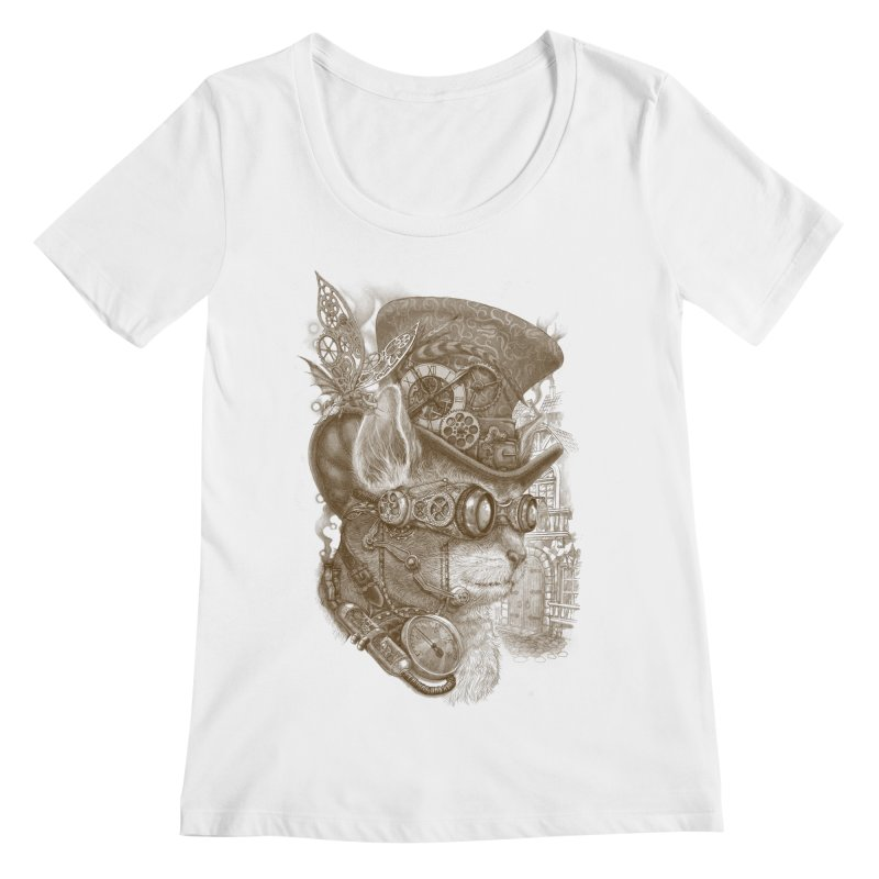 The Observer Women's Scoopneck by Windville's Artist Shop