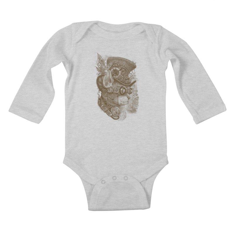 The Observer Kids Baby Longsleeve Bodysuit by Windville's Artist Shop