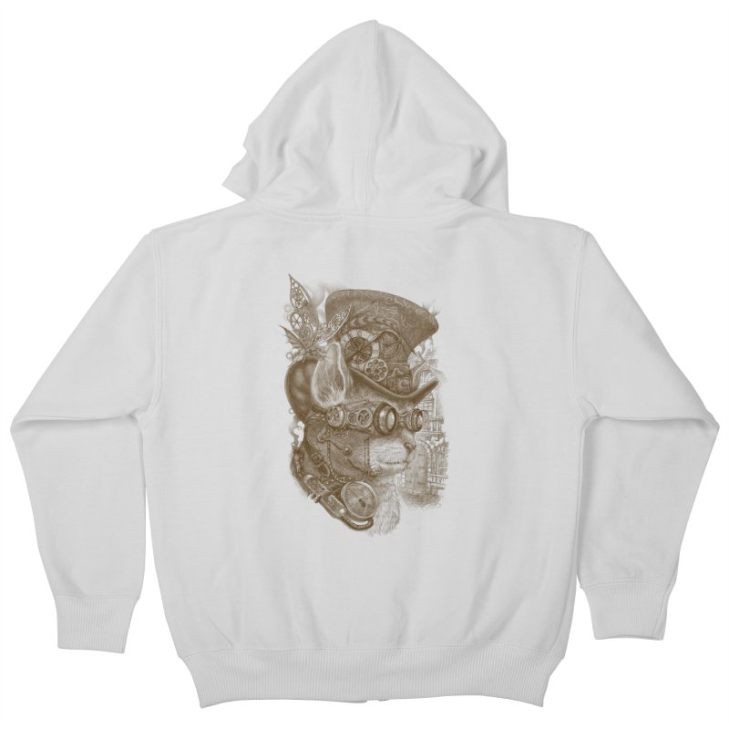 The Observer Kids Zip-Up Hoody by Windville's Artist Shop