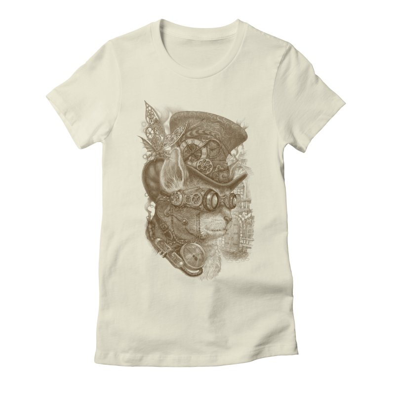 The Observer Women's Fitted T-Shirt by Windville's Artist Shop