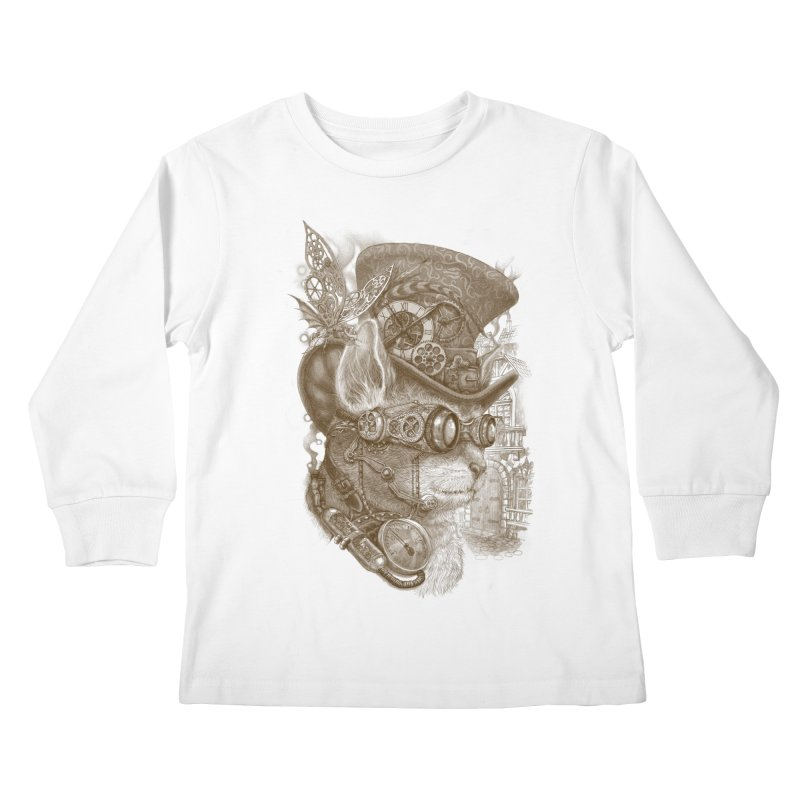 The Observer Kids Longsleeve T-Shirt by Windville's Artist Shop