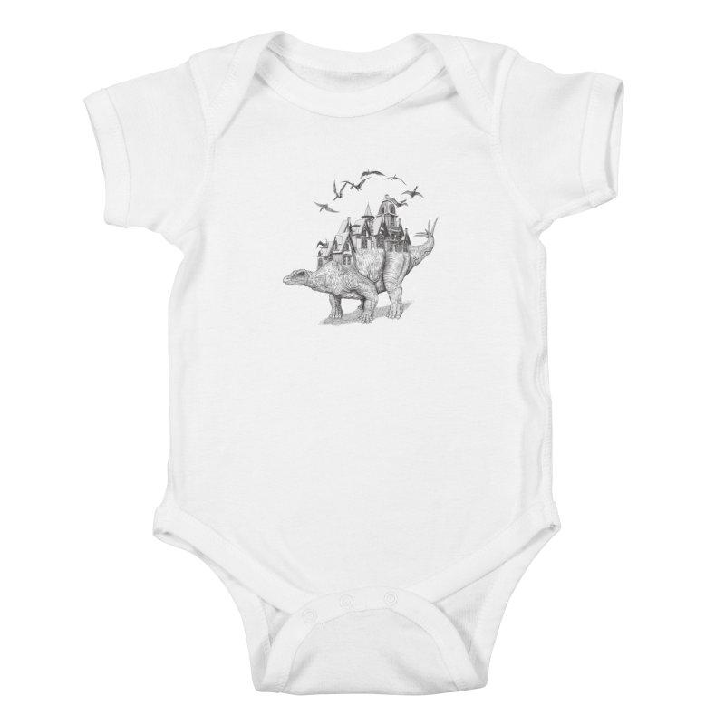 Stegoland Kids Baby Bodysuit by Windville's Artist Shop