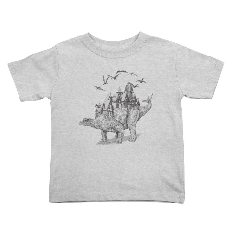 Stegoland Kids Toddler T-Shirt by Windville's Artist Shop