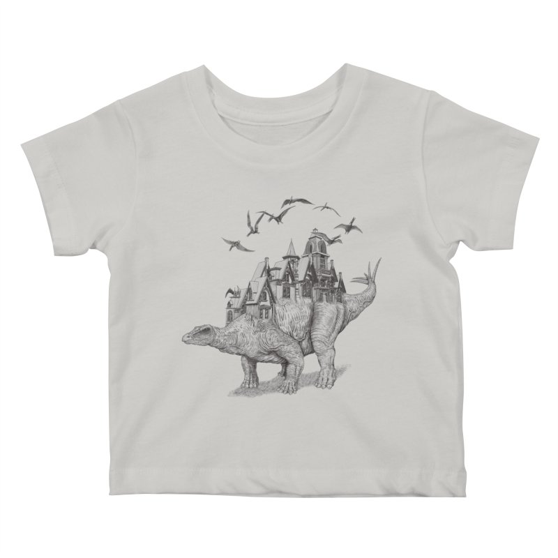 Stegoland Kids Baby T-Shirt by Windville's Artist Shop