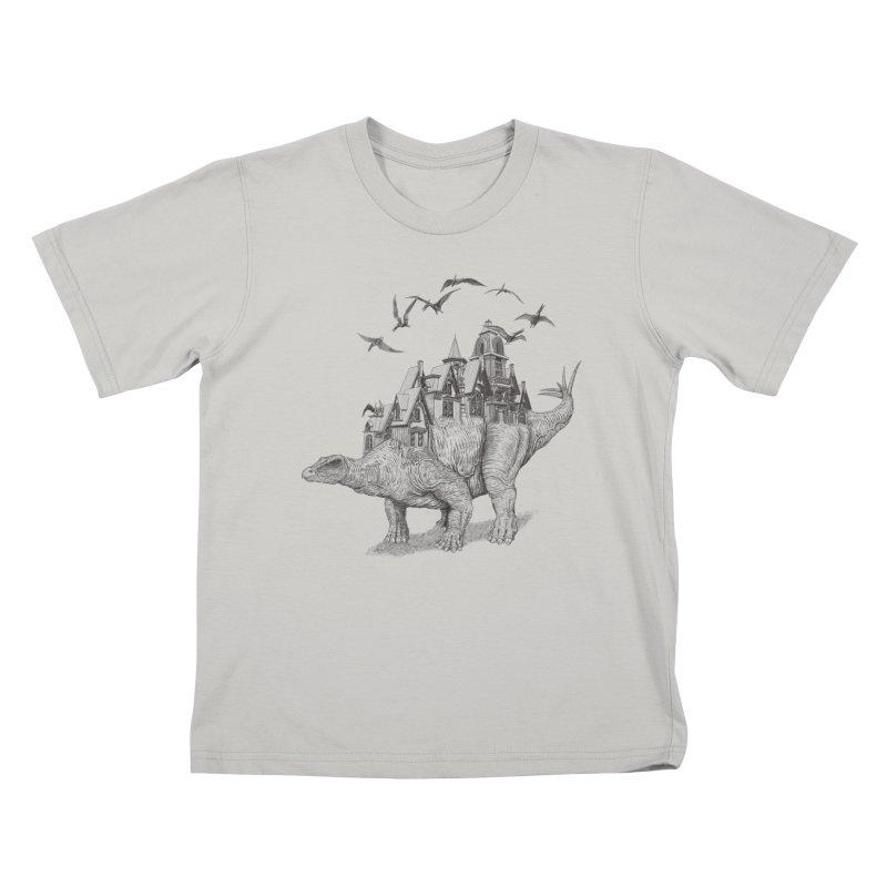 Stegoland Kids T-shirt by Windville's Artist Shop