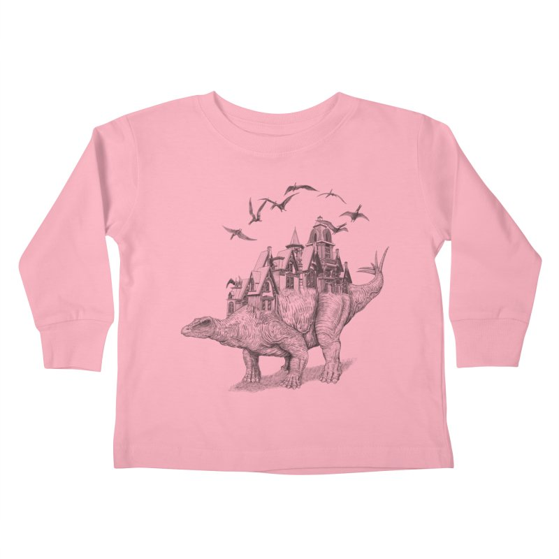 Stegoland Kids Toddler Longsleeve T-Shirt by Windville's Artist Shop